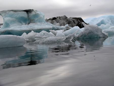 Glacier atteignant l'océan
