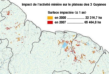 environnement,pollution,guyane,orpaillage